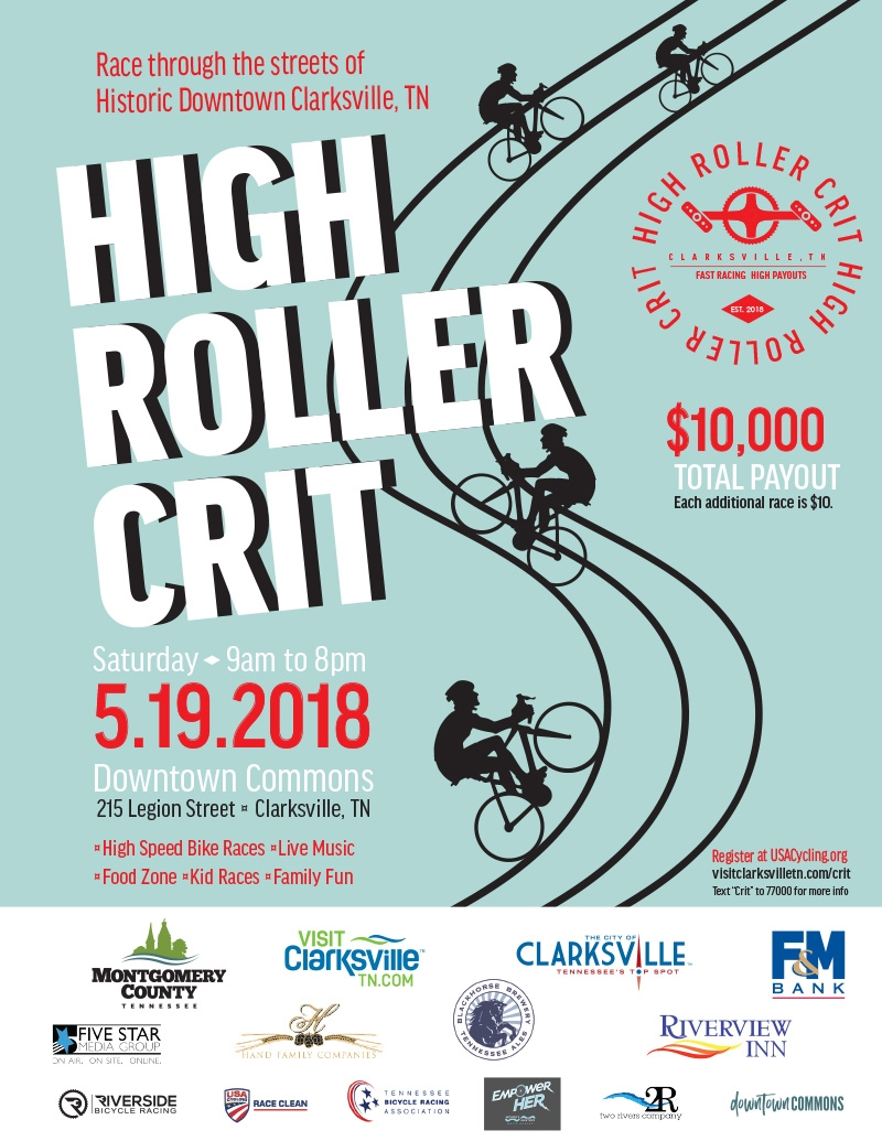 High Roller Crit High Speed Bicycle Race Downtown Commons